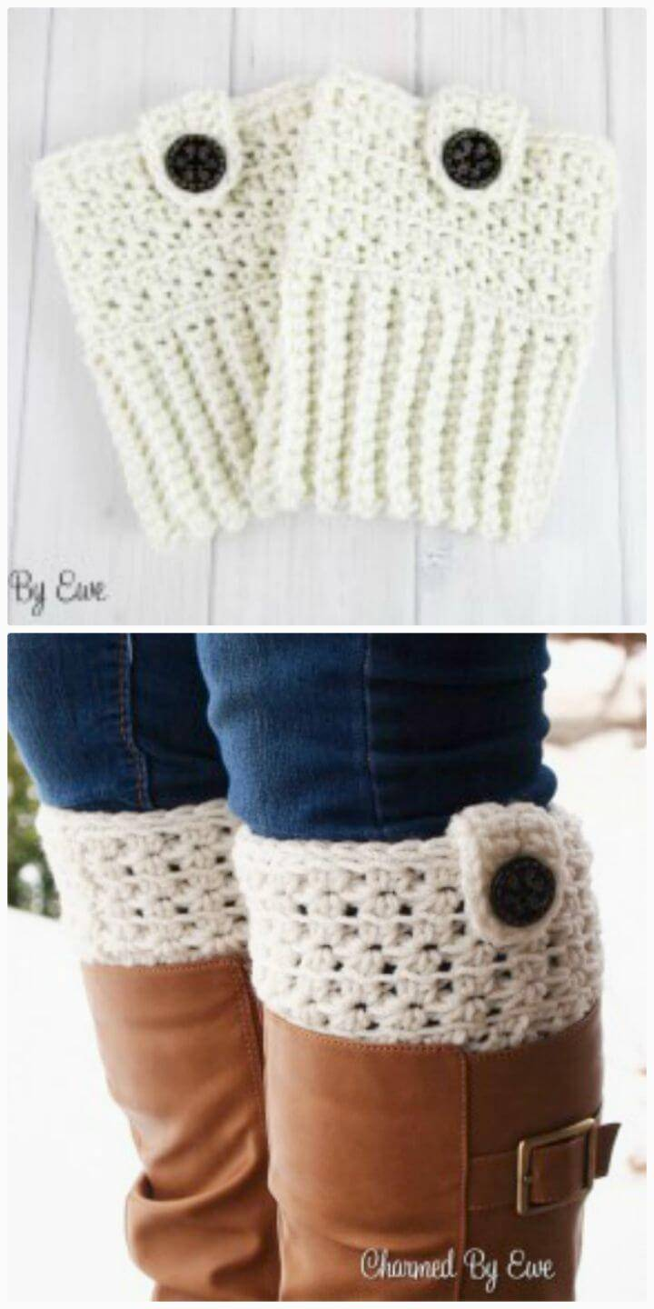 Crochet Star Stitch Boot Cuffs - Free Pattern
