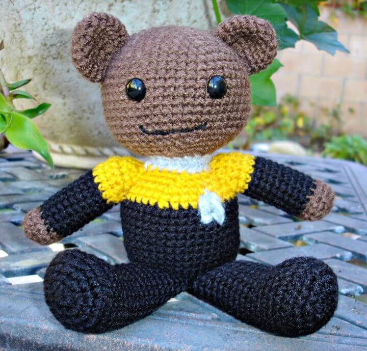 Crochet Star Trek Teddy Bear - Free Pattern