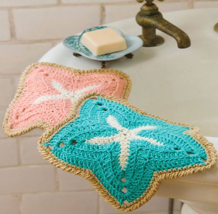 Quick Crochet Starfish Dishcloths - Free Pattern
