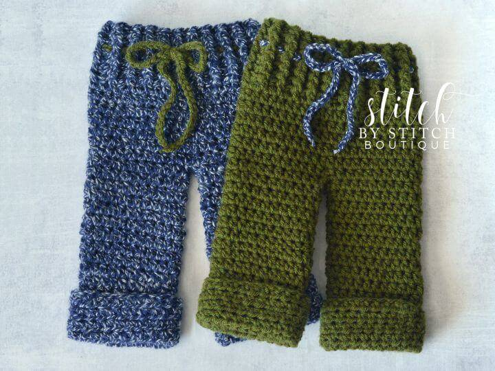 How To Crochet Stitch Boutique Newborn Pants - Free Pattern