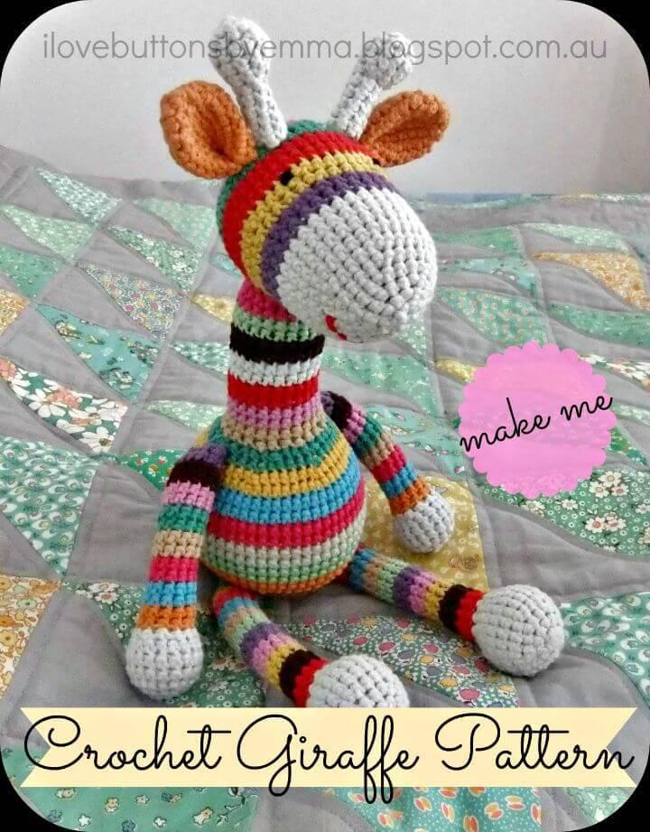 Crochet Stripy Giraffe Amigurumi - Free Pattern