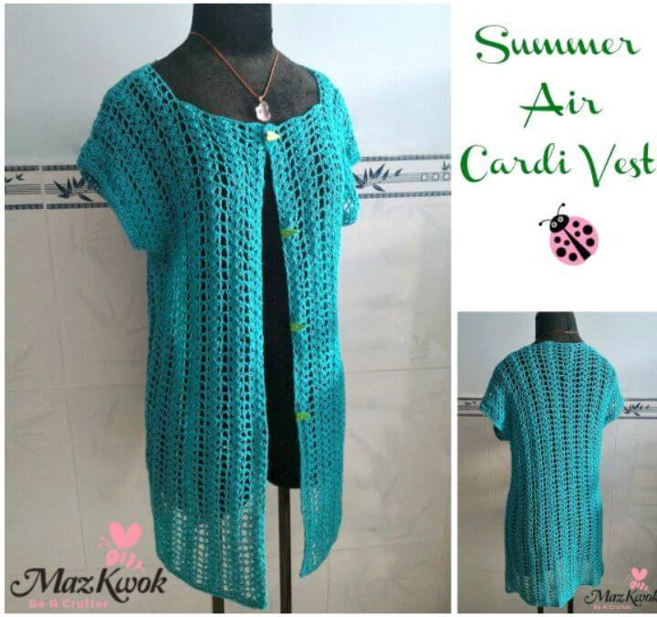 Summer Air Cardi Vest – Free Pattern