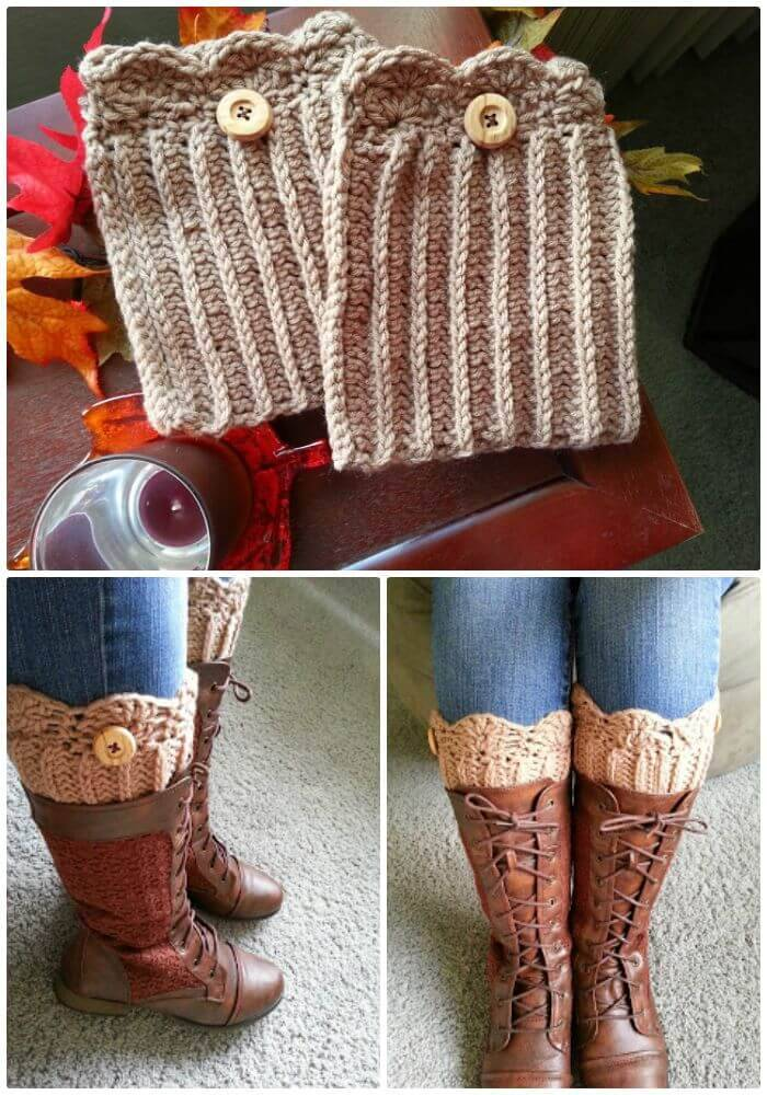 Free Crochet Super Cute Boot Cuffs Pattern