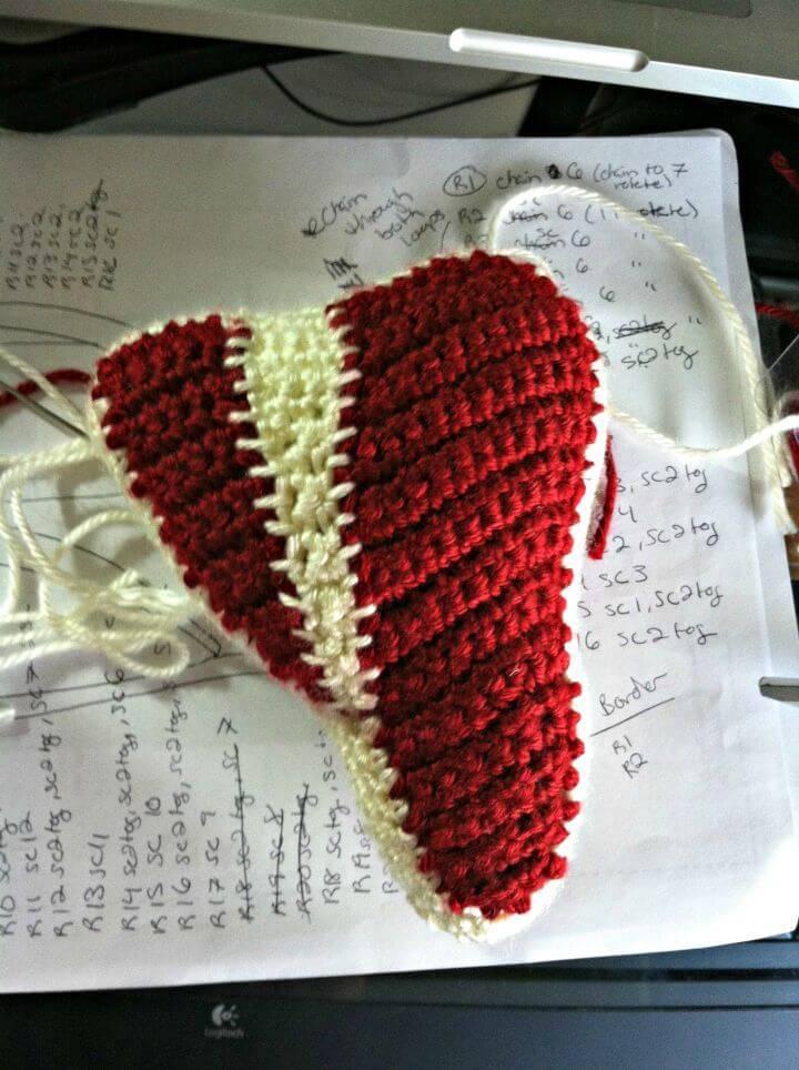 Free Crochet T-bone Steak Amigurumi Pattern