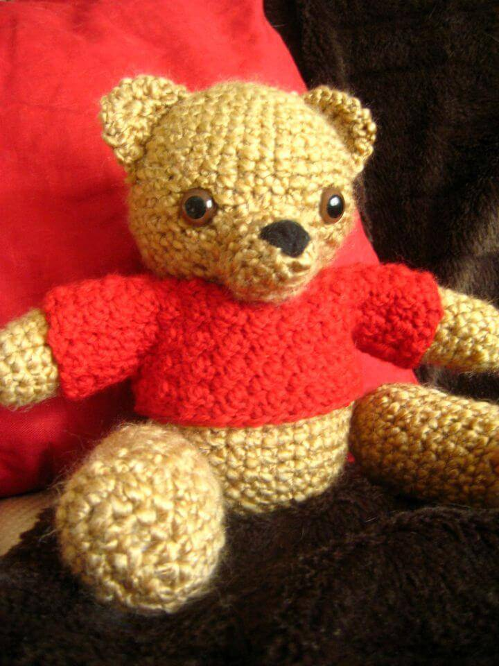 Easy Crochet Ta-Tas Teddy Bear - Free Pattern