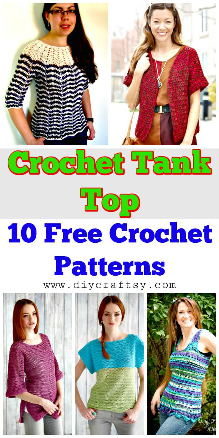 Crochet Tank Top - 10 Free Crochet Patterns