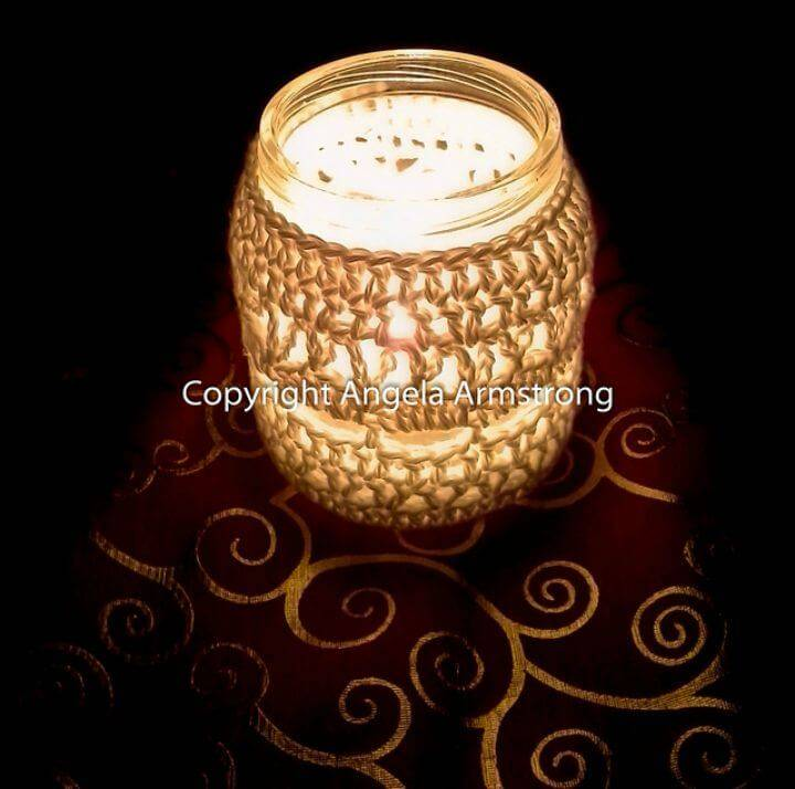 How To Crochet Tea Light Candle Cosy - Free Pattern