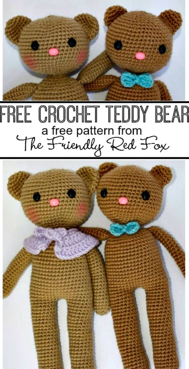 Crochet Teddy Bear Couple Free Pattern
