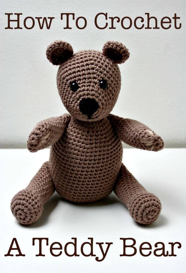 How To Free Crochet Teddy Bear Pattern
