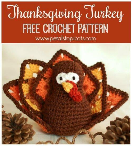 Free Crochet Thanksgiving Turkey Amigurumi Pattern
