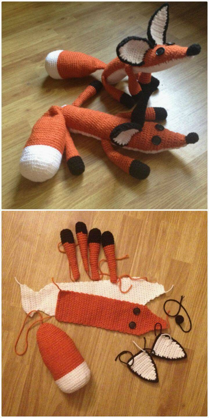 Crochet The Fox Plush From The Little Prince - Free Pattern
