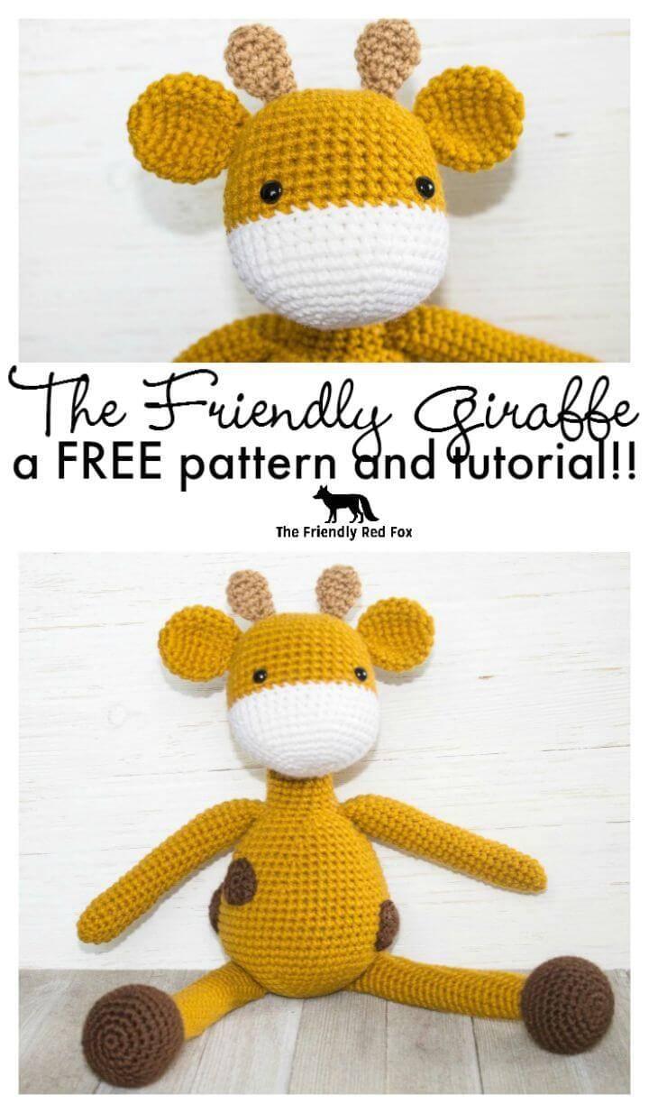Free Crochet The Friendly Giraffe Pattern