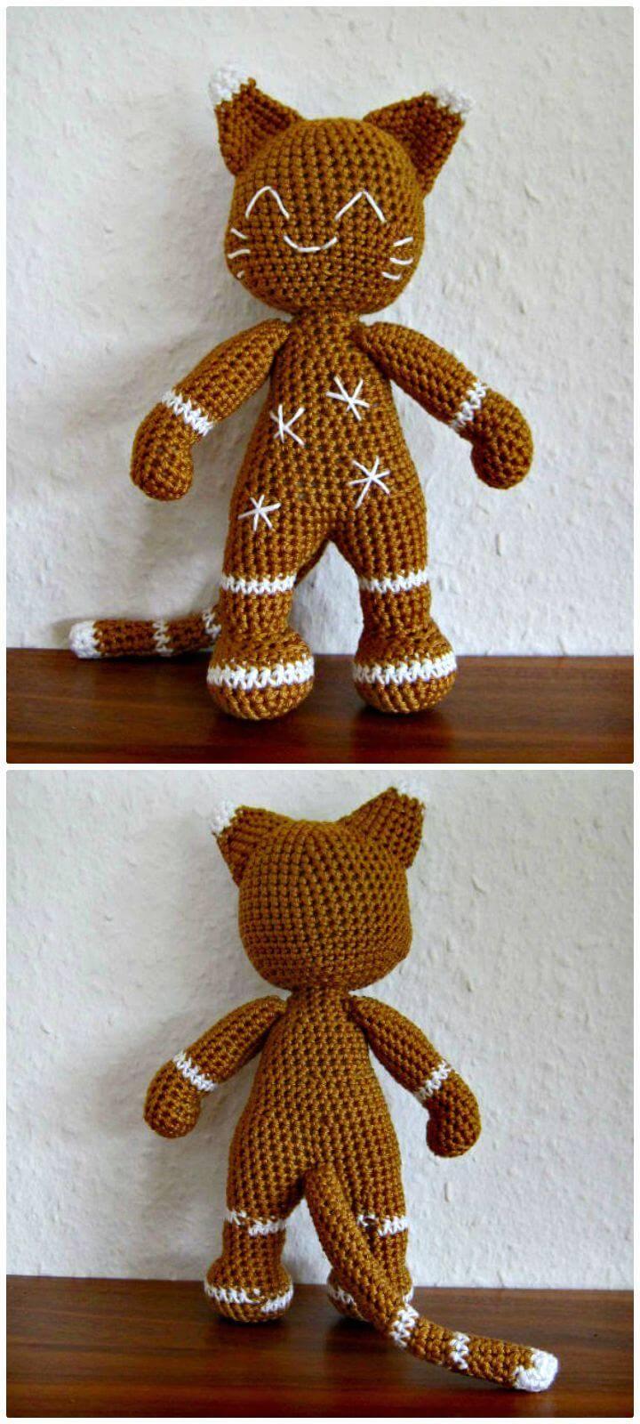 Crochet The Gingerbread Cat - Free Amigurumi Pattern