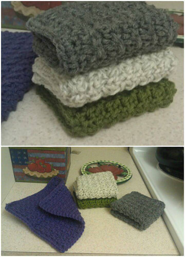 How to Crochet The Ideal Dish Cloth - Free Pattern