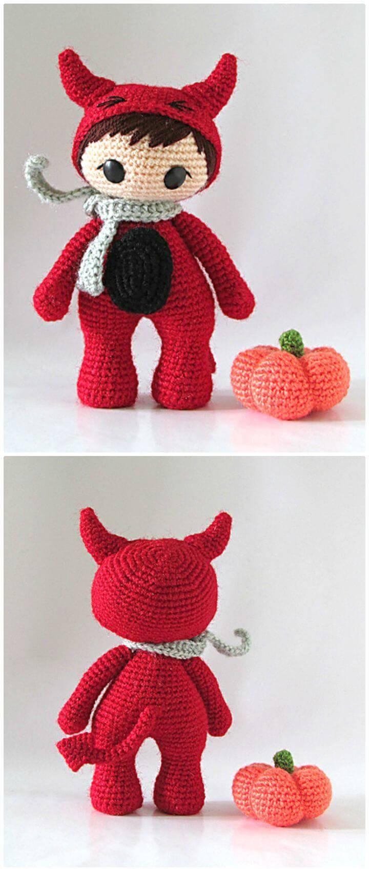 Free Crochet The Little Red Devil Amigurumi Pattern