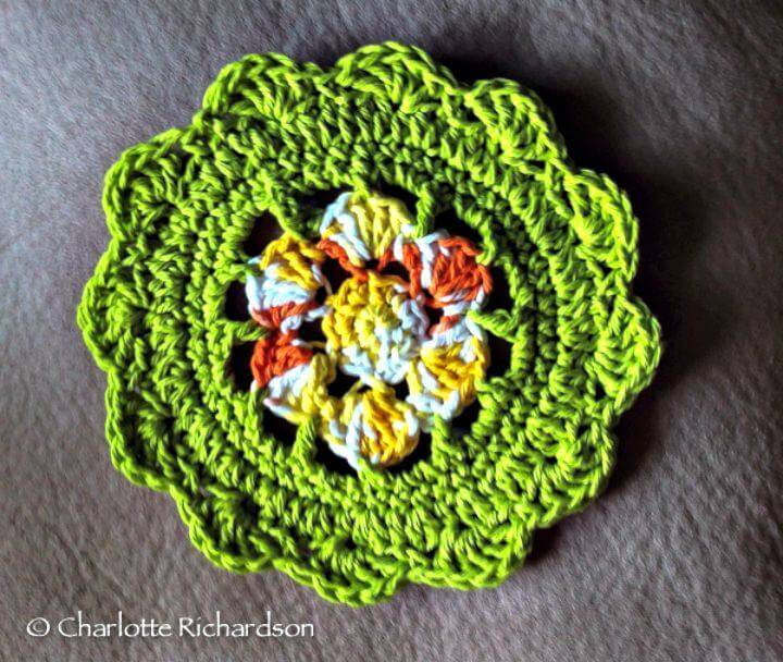 How To Crochet The Water Lily Dishcloth - Free Pattern