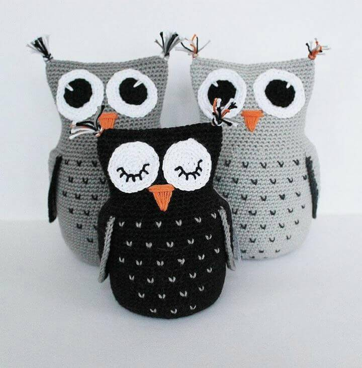 Crochet Three Cute Owl - Free Pattern