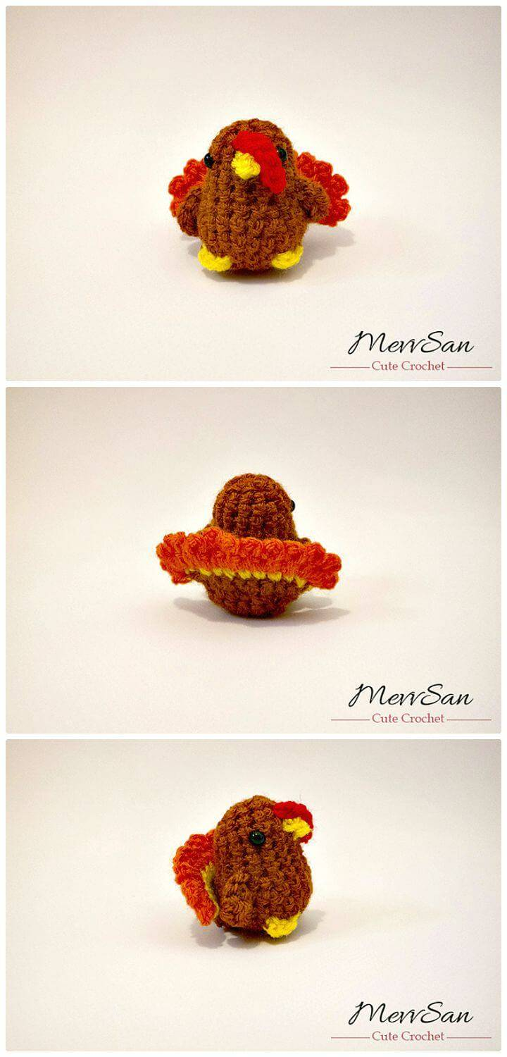 How To Free Crochet Tiny Tom Turkey Amigurumi Pattern