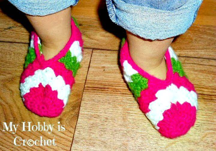 Free Crochet Toddler Slippers Sparkling Holidays Pattern