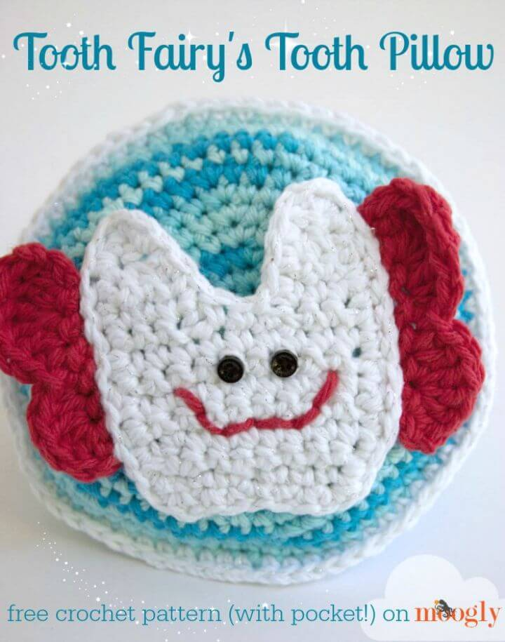 Free Crochet Tooth Fairy's Tooth Pillow Pattern