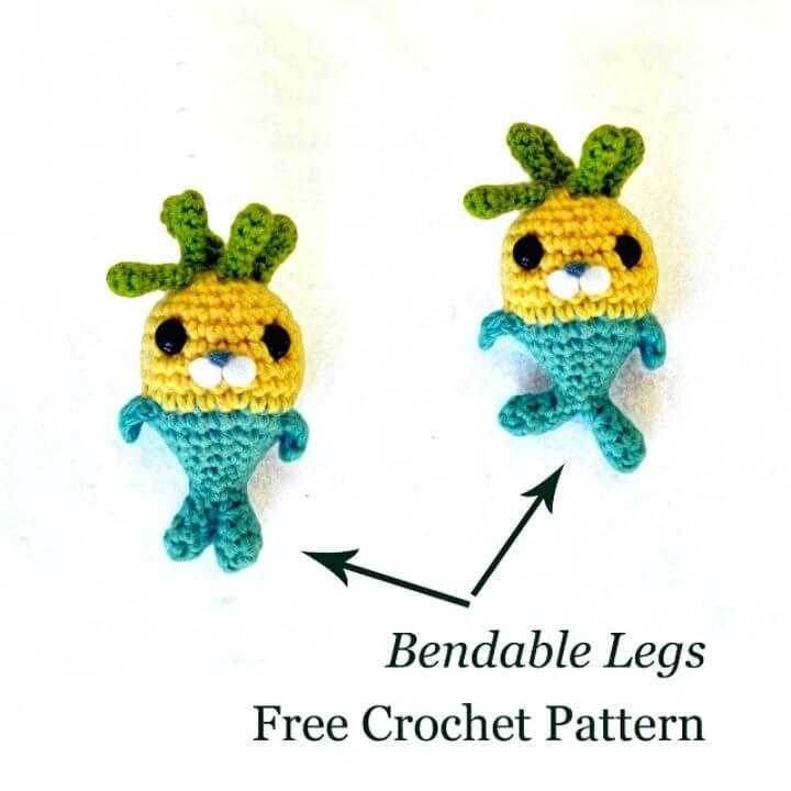 Crochet Tunip And The Purple Vegimal - Free Pattern