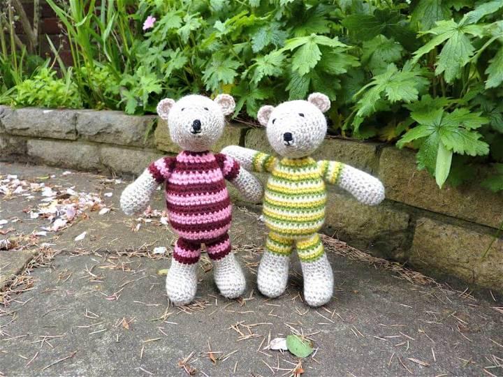 Crochet Tutti Frutti Bears - Free Pattern