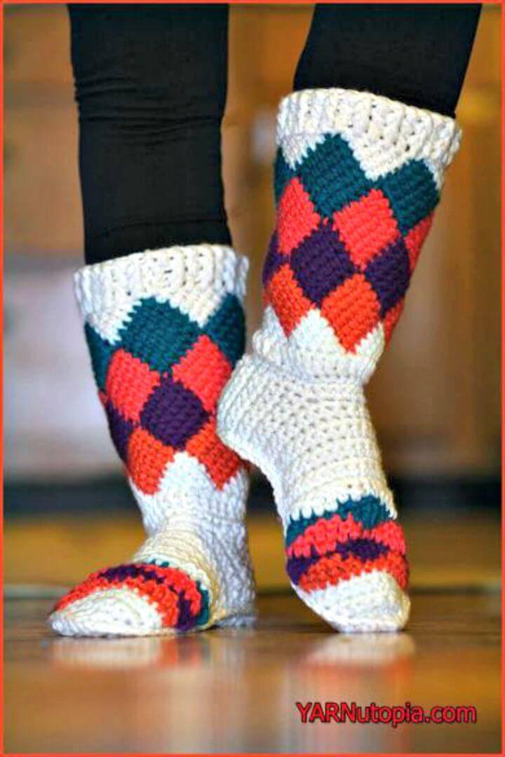 Crochet Tutti Frutti Slippers - Free Pattern