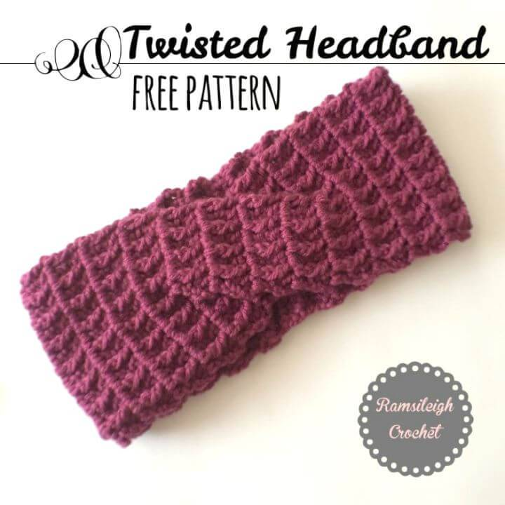 Easy Crochet Twisted Headband Free Pattern