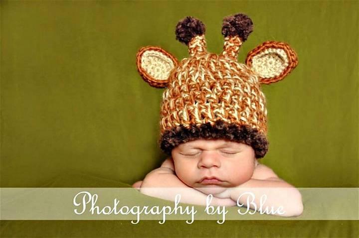 Crochet This Unique Giraffe Baby Hat Pattern
