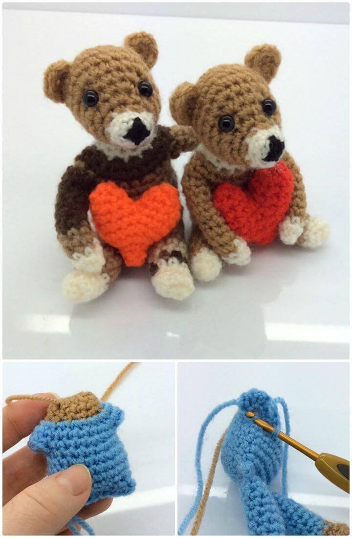 How To Crochet Valentine Bear - Free Pattern