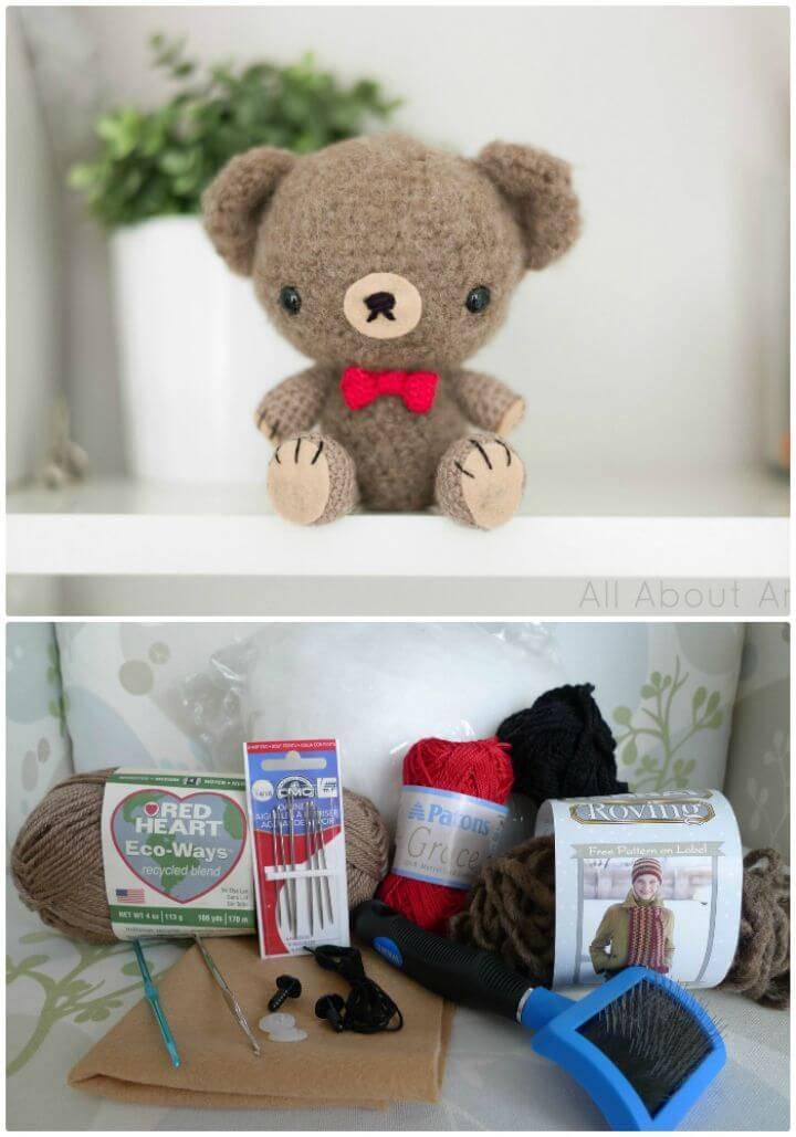Free Crochet Valentine Teddy Pattern