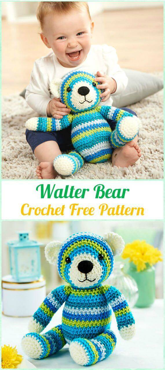 Easy & Adorable Crochet Walter Bear Amigurumi - Free Pattern