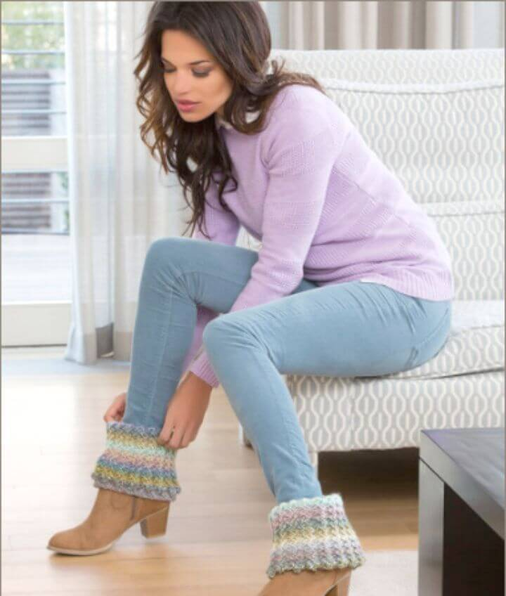 Free Crochet Warm Ribbed Boot Cuffs Pattern
