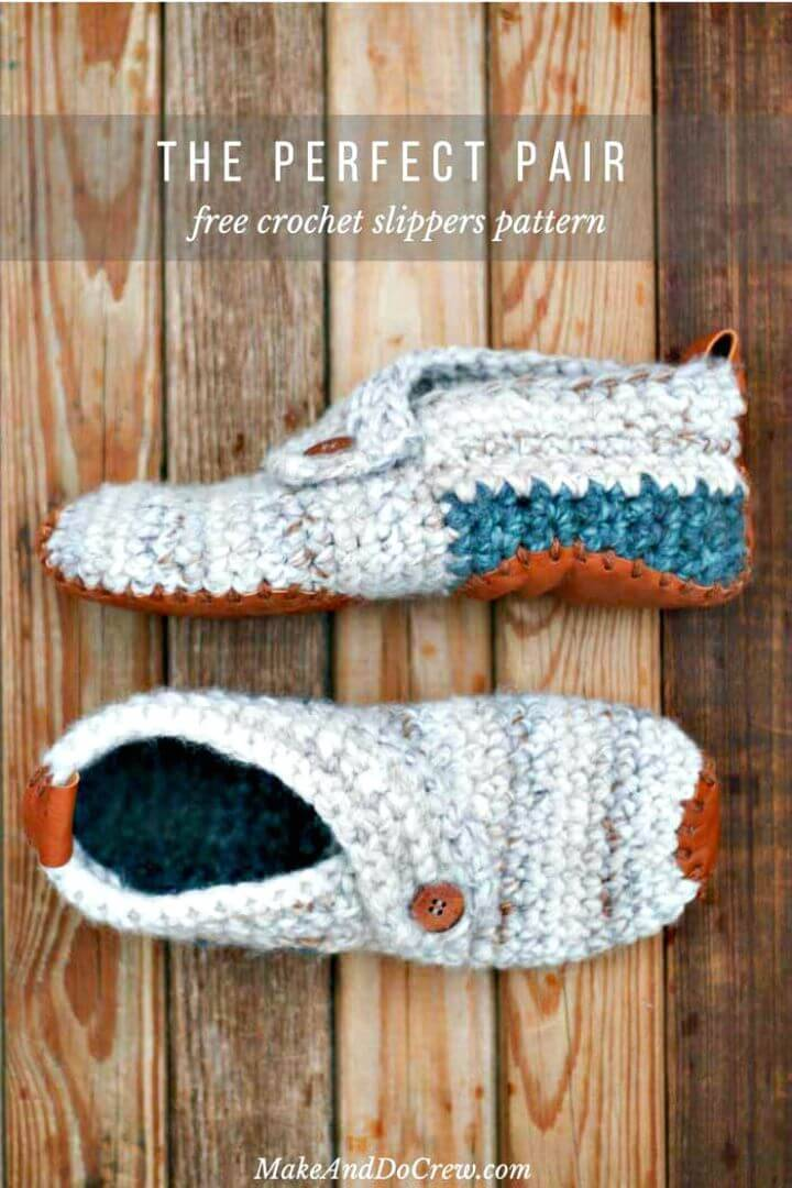 How To Crochet Women'S Sunday Slippers – Free Slippers Pattern