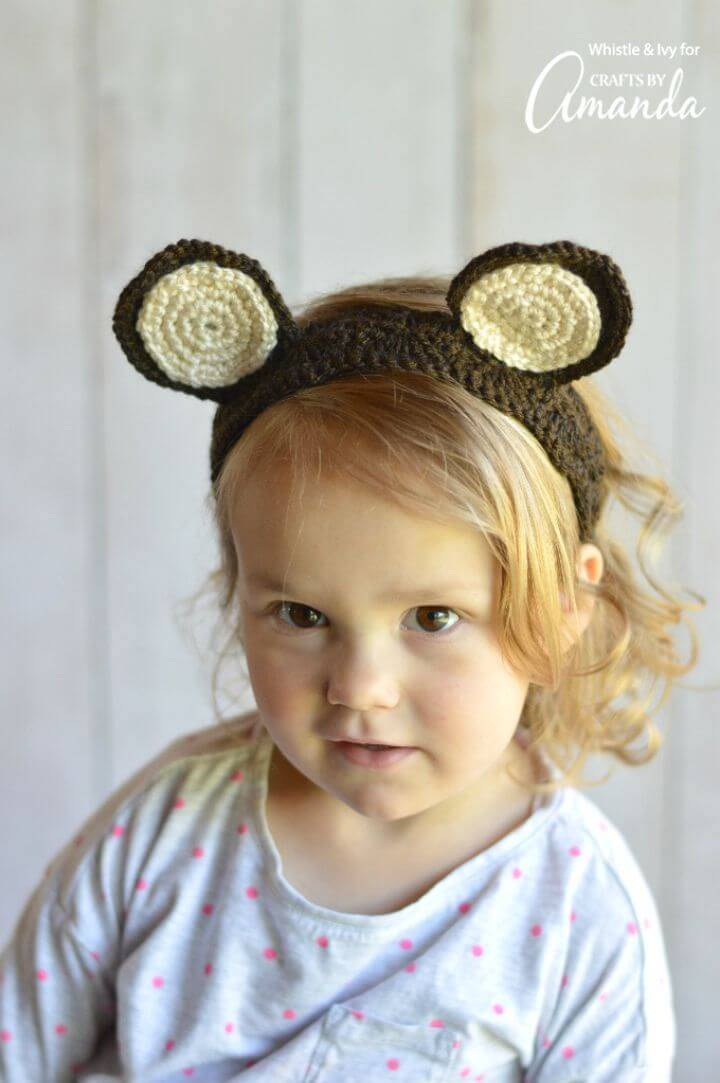 Easy Crochet Woodland Animal Ears Headband – Free Pattern