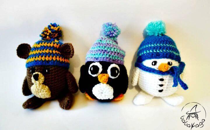 How To Crochet Woolly Penguin - Free Pattern