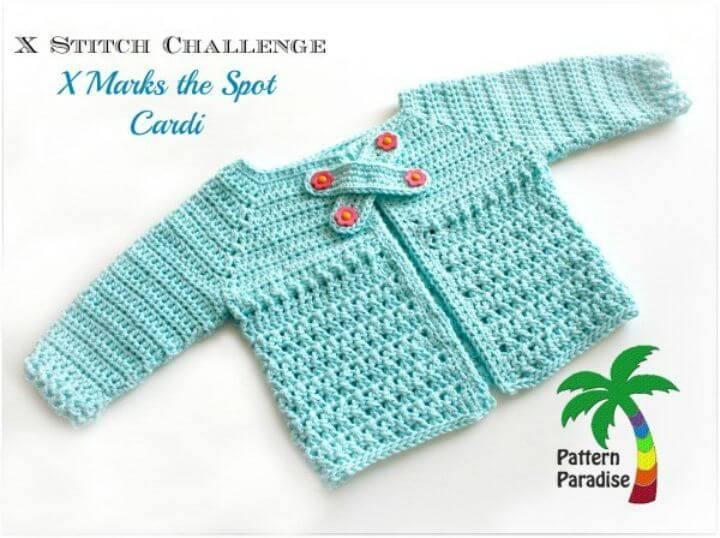 Free Crochet X Stitch Challenge - X Marks The Spot Cardi