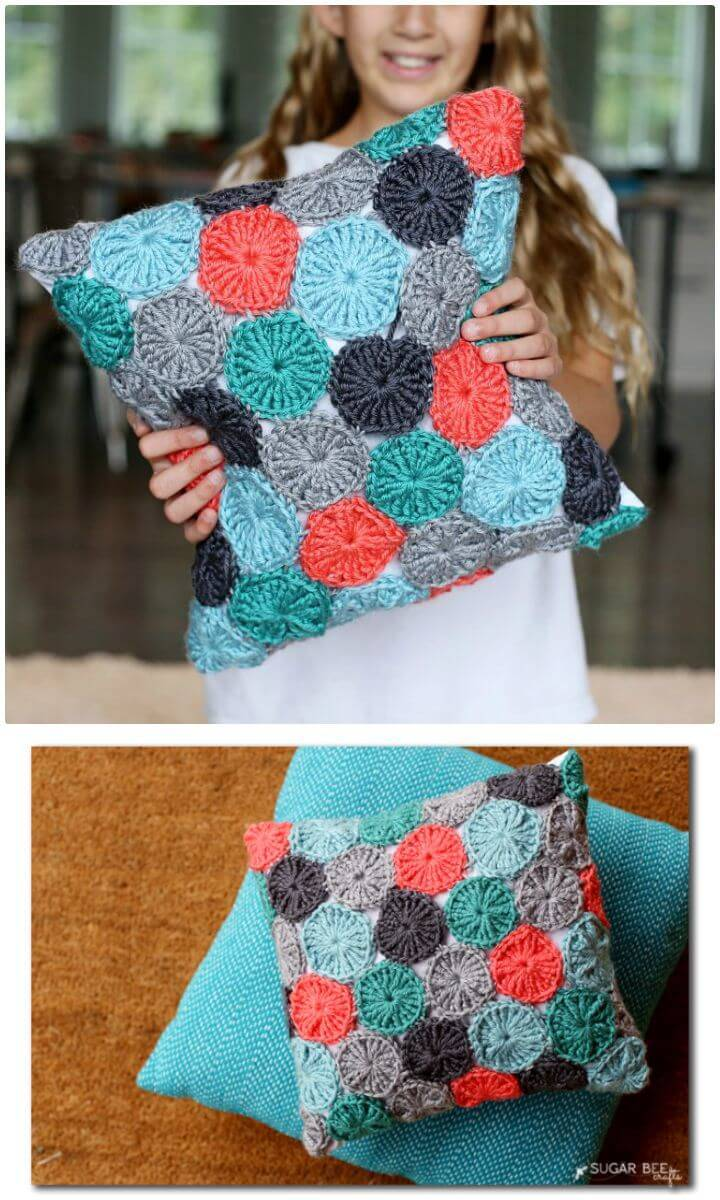 Free Crochet Yo-Yo Pillow Pattern!