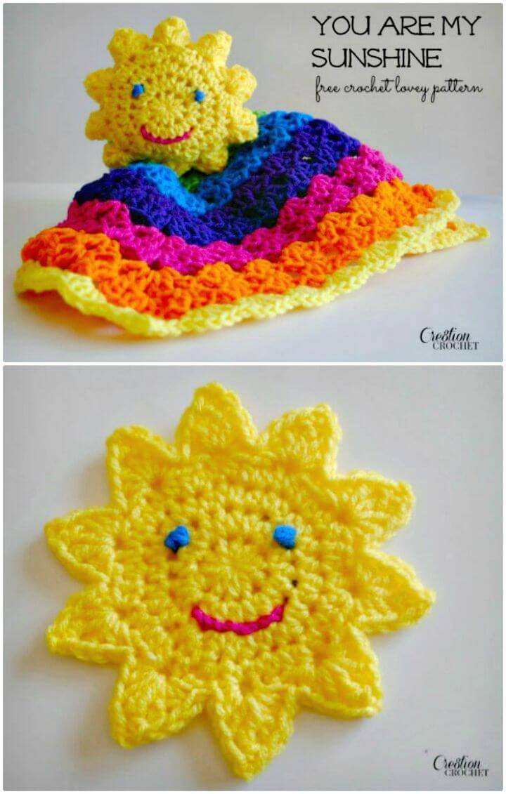 Crochet You Are My Sunshine Lovey - Free Pattern
