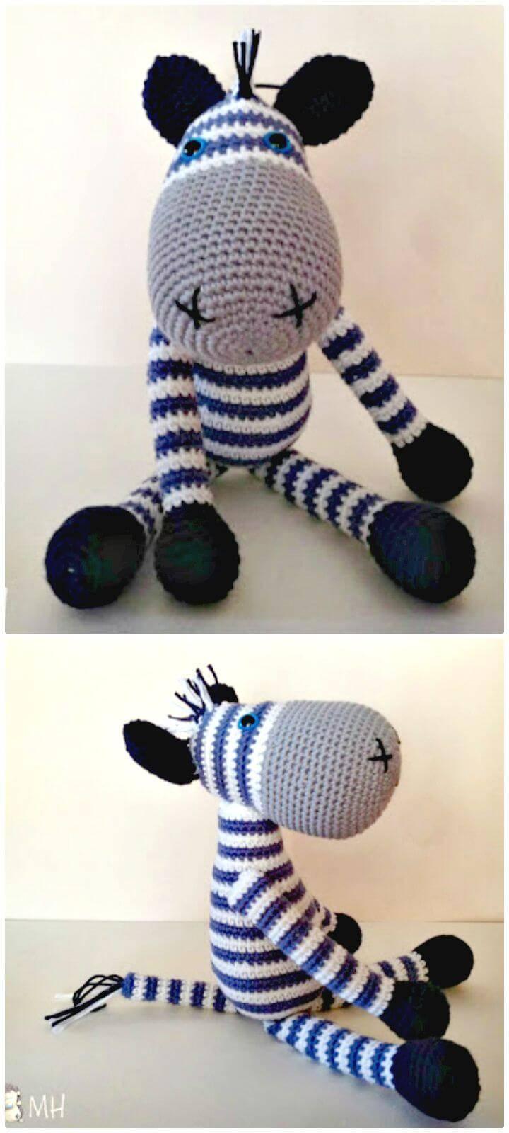 How To Free Crochet Zebra Amigurumi Pattern