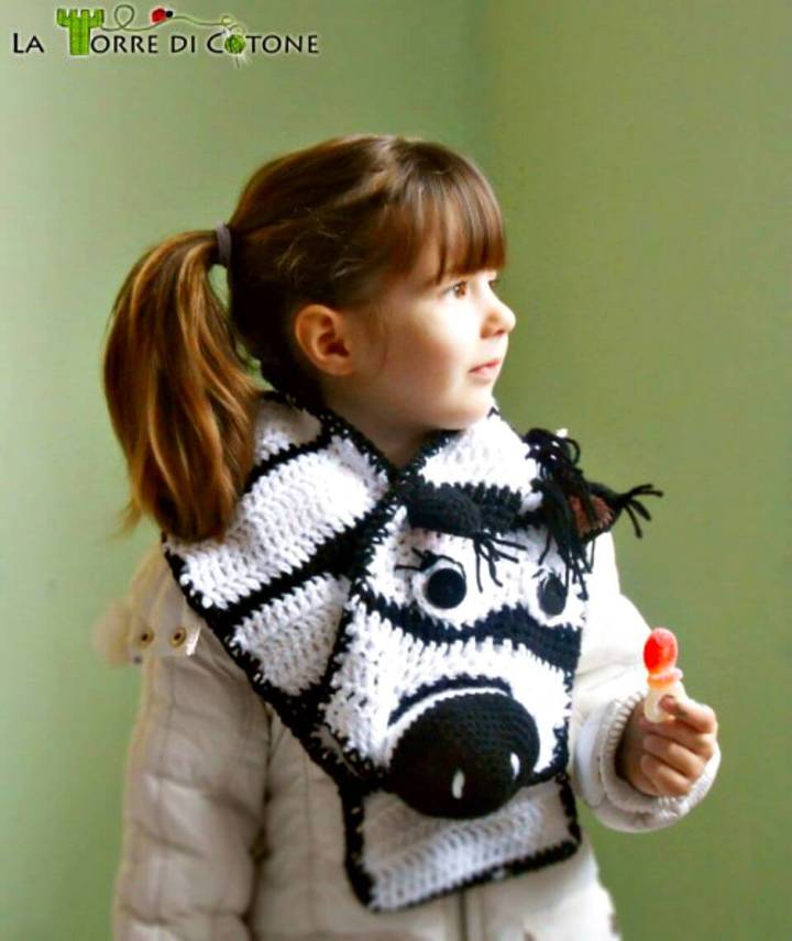 How To Crochet Zebra Scarf - Free Pattern