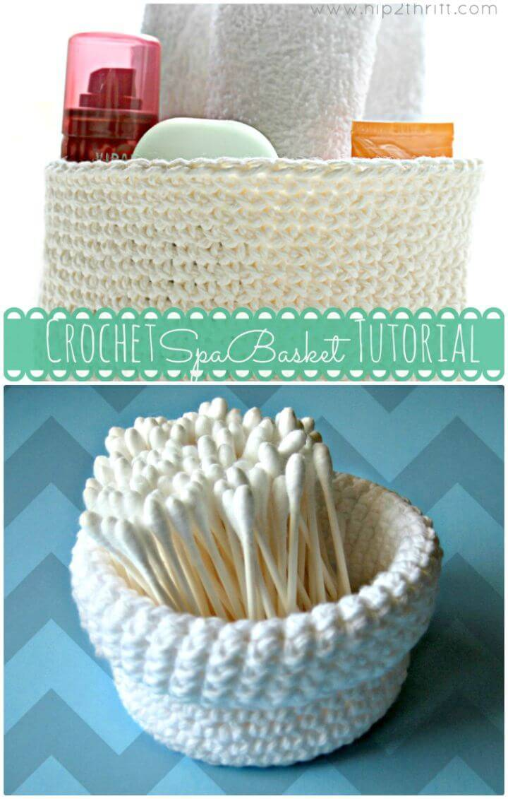 Free Crochet A Spa-Basket Pattern