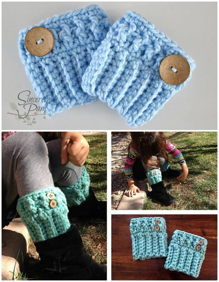 Free Crochet Chunky Boot Cuffs Pattern