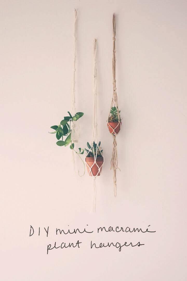 How To Make Two Mini String Macrame Plant Hanger
