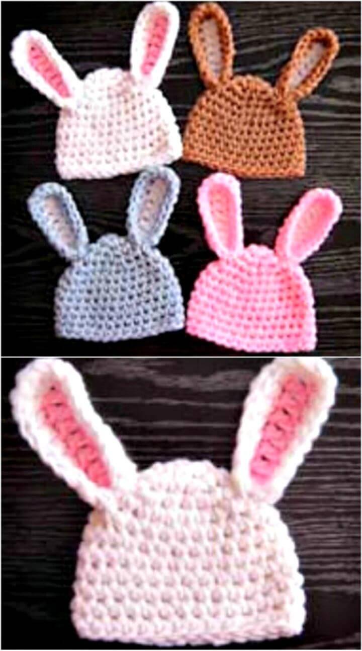 Free Crochet Baby Bunny Hat Pattern