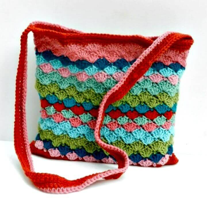 Free Crochet Bag Of Colors Pattern