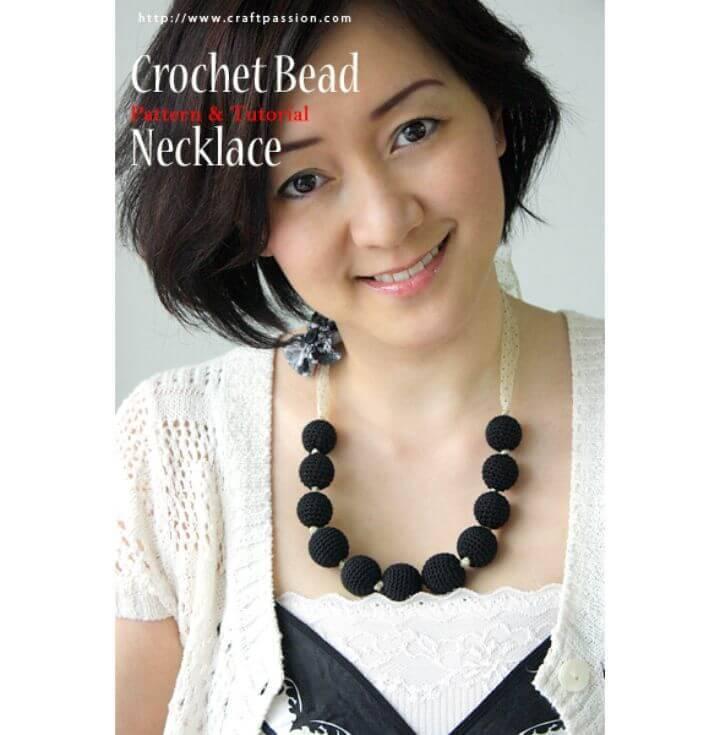 Free Crochet Beads Necklace Crochet Pattern