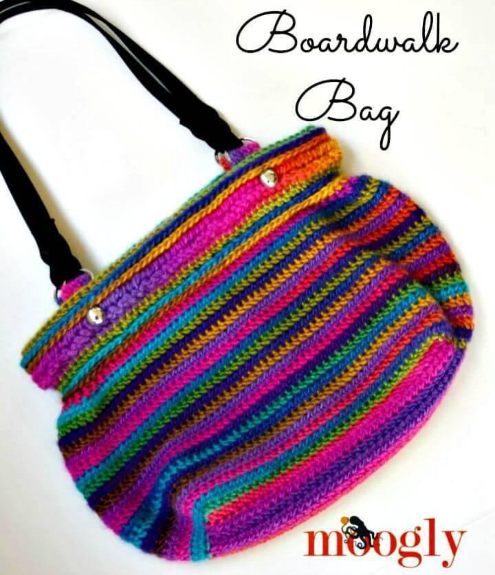 How To Free Crochet Boardwalk Bag Pattern
