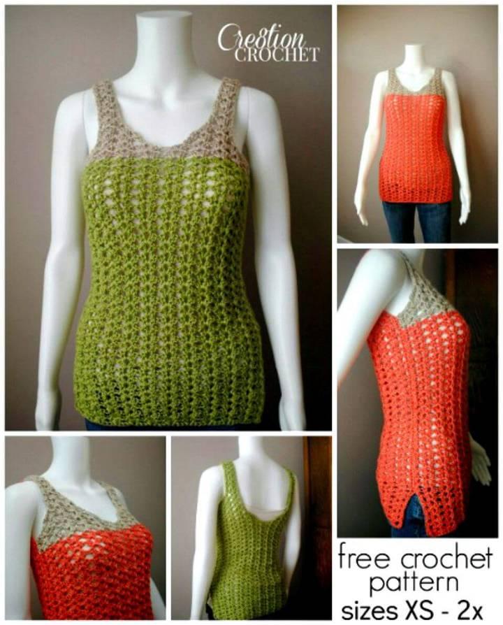 How To Breezy Shell Tank - Free Crochet Pattern
