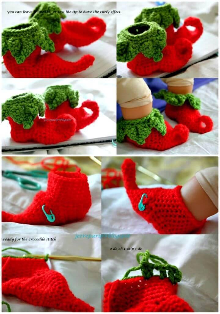 Free Chili Crochet Baby Shoes Pattern